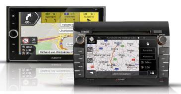 Navigationen ZENEC und Xzent